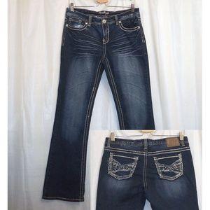 "Amethyst Boot Cut Jeans Women's Juniors 11 (32.5"")"